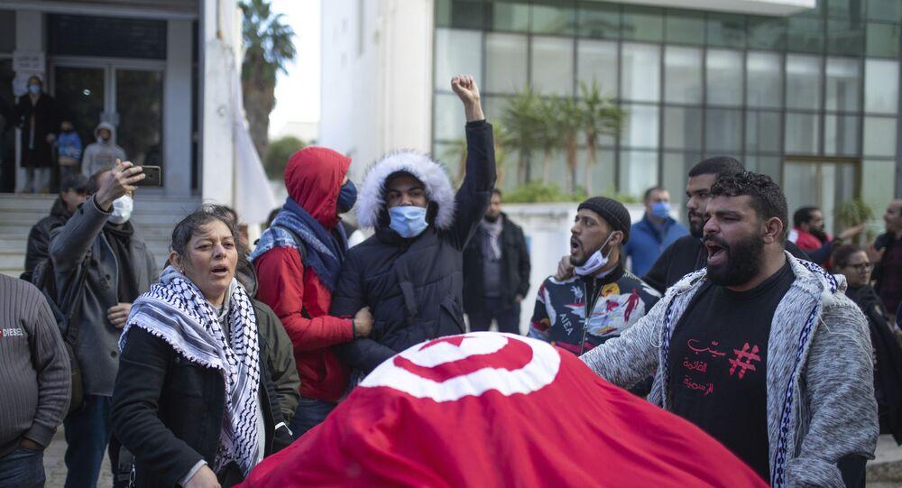 مظاهرات ثورة الجياع في تونس، 12 يناير 2021