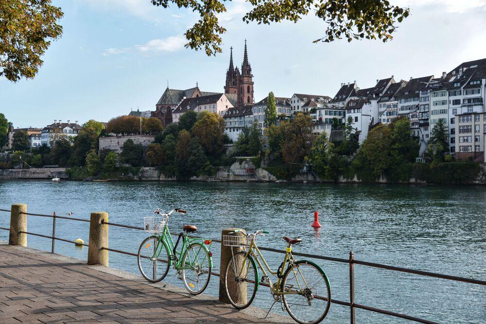 جسر الراين في بازل، سويسرا