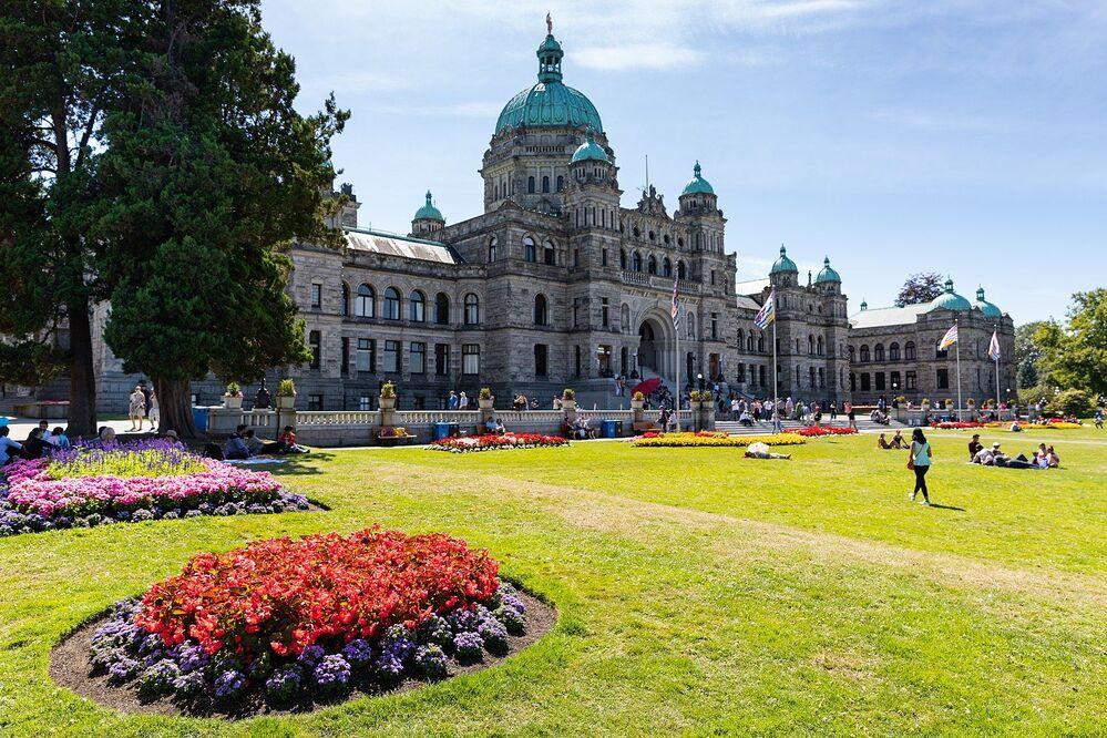 مبنى البرلمان في كولومبيا البريطانية في فيكتوريا، كندا