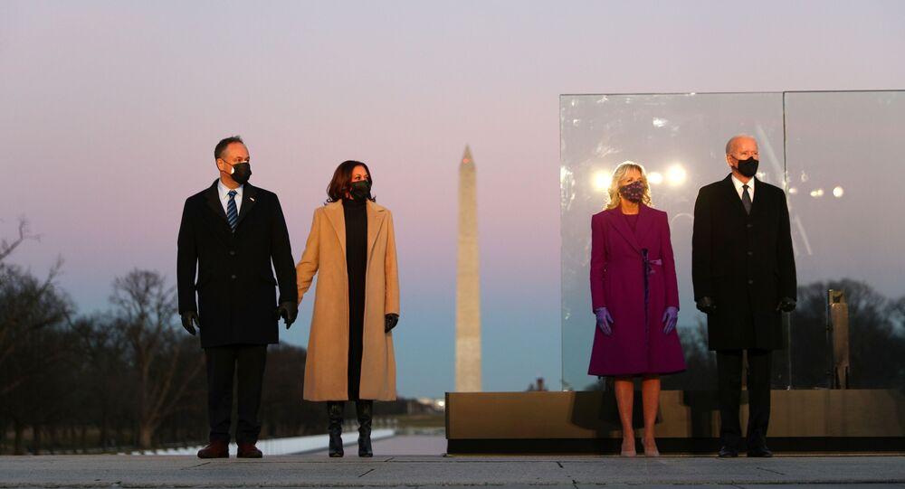 الرئيس المنتخب الأمريكي جو بايدن ونائبة الرئيس كامالا هاريس، واشنطن، الولايات المتحدة 20  يناير 2021