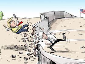 أمر بايدن بوقف بناء الجدار على الحدود مع المكسيك