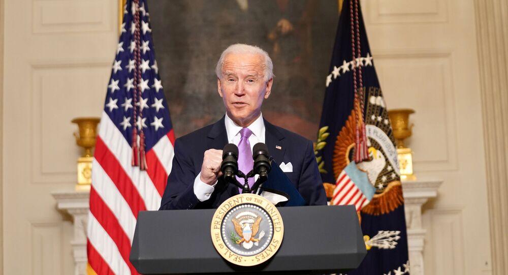 الرئيس الأمريكي جو بايدن في إفادة صحفية اليوم الثلاثاء من البيت الأبيض