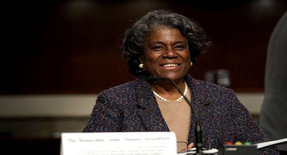 ليندا توماس غرينفيلد المرشحة لمنصب المندوب الأمريكي لدى الأمم المتحدة