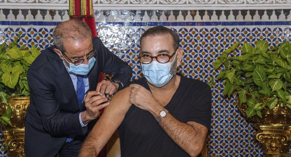 ملك المغرب يتلقى الجرعة الاولى من لقاح ضد فيروس كورونا