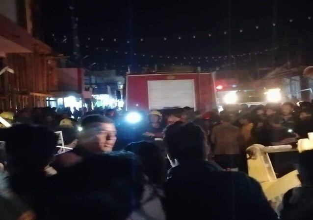 الانفجار الضخم الذي شهدته محافظة الديوانية جنوبي العراق