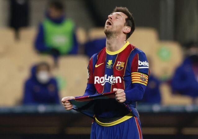 الأرجنتيني ليونيل ميسي لاعب برشلونة الإسباني