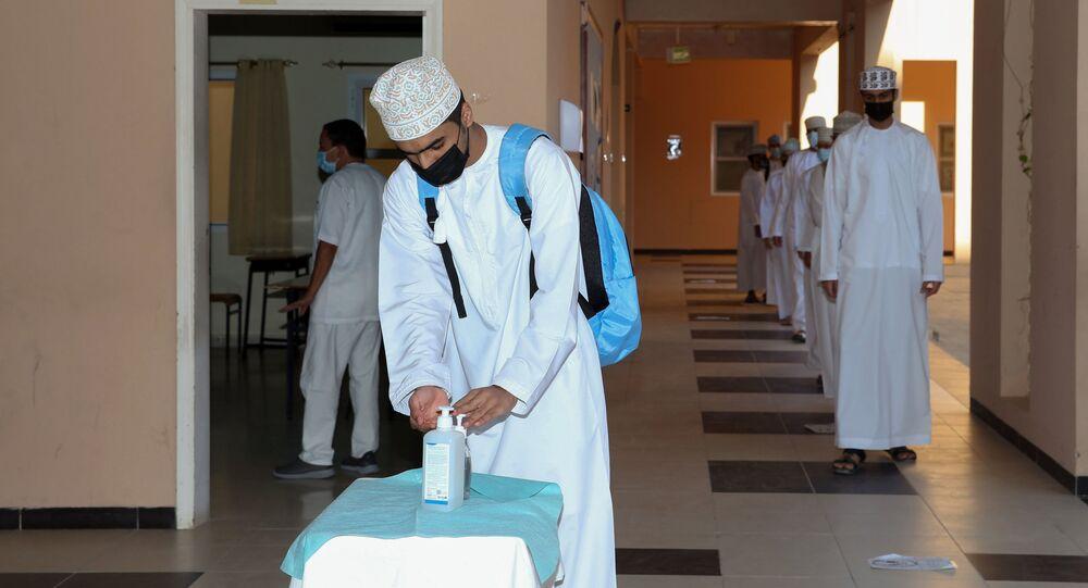 طلاب مدرسة في عمان