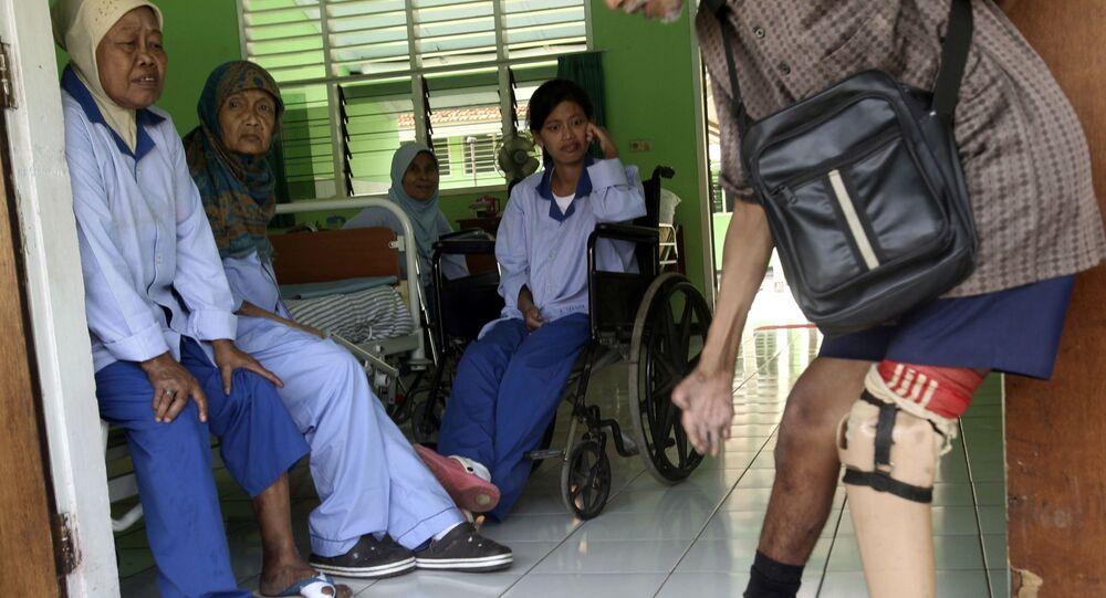 المصابون بمرض الجذام في إندونيسيا