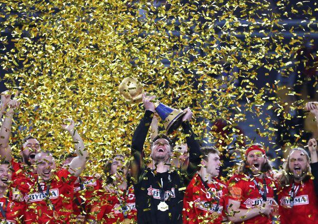المباراة النهائية لمونديال بطولة كأس العالم لليد بين منتخبي الدنمارك والسويد