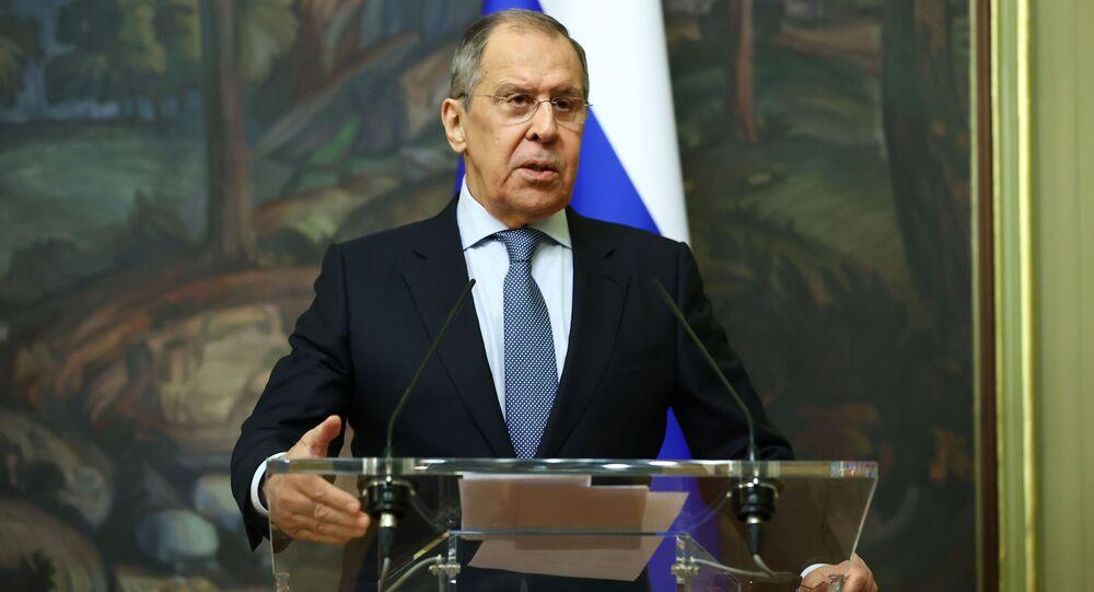 لقاء وزير الخارجية الروسي سيرغي لافروف مع نظيرته السويدية آن ليندي
