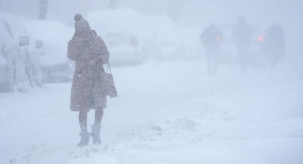 عاصفة ثلجية ضخمة في نيوجيرسي، الولايات المتحدة الأمريكية 1 فبراير 2021