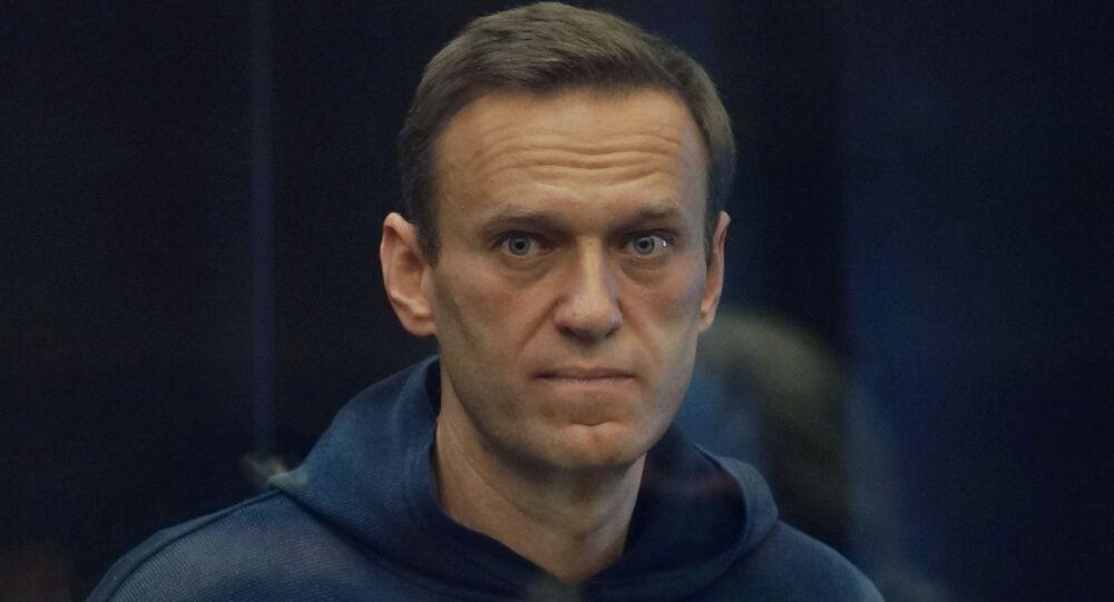 المعارض الروسي نافالني المحتجز، في محكمة موسكو، روسيا 2 فبراير 2021