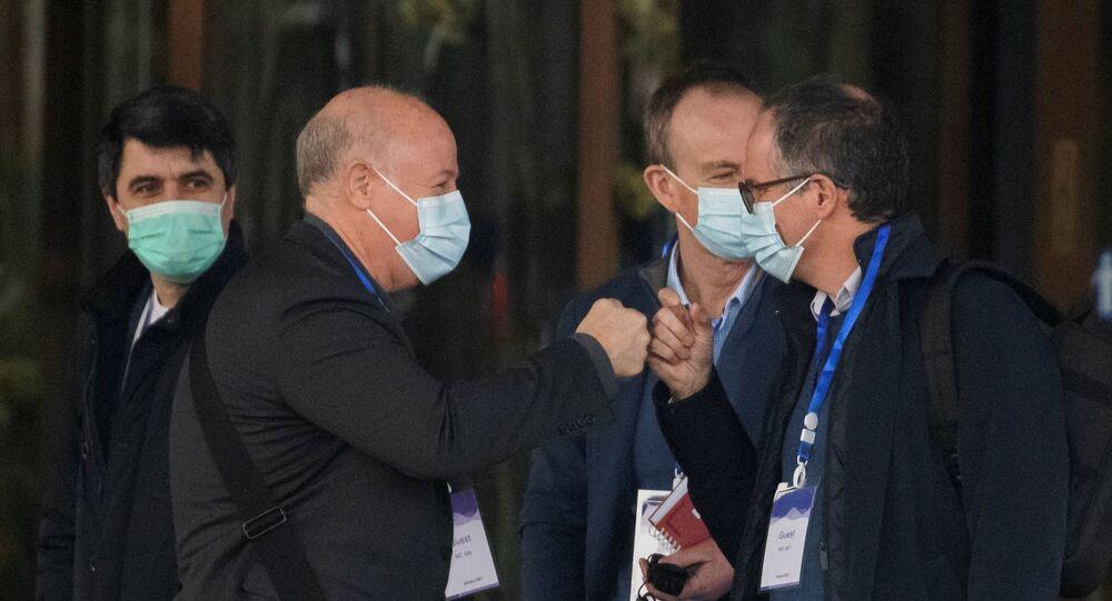 فريق منظمة الصحة العالمية للتفتيش في أصل كورونا بمدينة ووهان الصينية