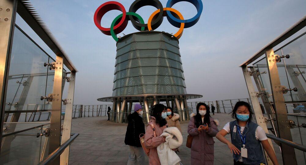 جولة إعلامية في موقع التجهيزات لإقامة الألعاب الأولمبية الشتوية 2022 في بكين، الصين 22 يناير 2021