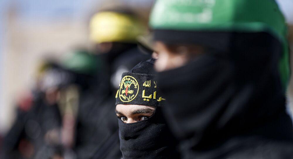 عناصر كتائب سرايا القدس التابعة لحركة الجهاد الإسلامي،غزة، قطاع غزة، فلسطين ديسمبر 2020