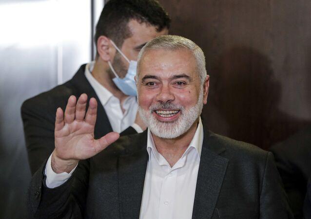 رئيس المكتب السياسي لحركة حماس إسماعيل هنية ، بيروت، لبنان 3 سبتمبر 2020