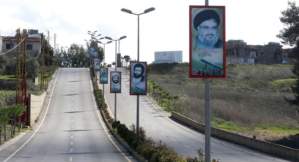 زعيم حركة حزب الله، حسن نصرالله، جنوب لبنان يناير 2021