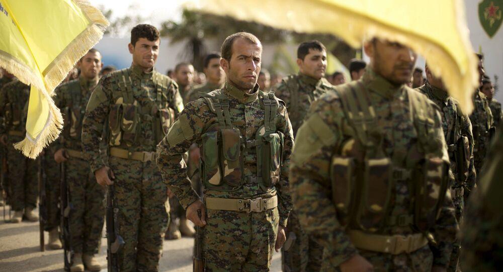عناصر قوات قسد (قوات سوريا الديمقراطية) المدعومة من الولايات المتحدة الأمريكية، 2019