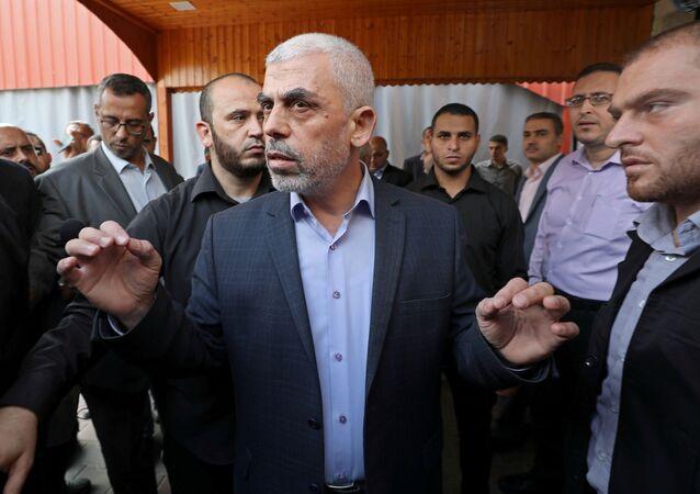 الفصائل الفلسطينية في القاهرة - قيادي في حركة حماس يحي السنوار في غزة، 28 أكتوبر 2019
