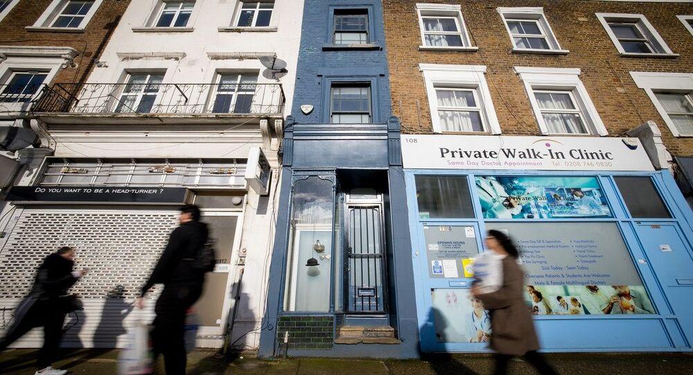 واحد من أضيق منازل لندن