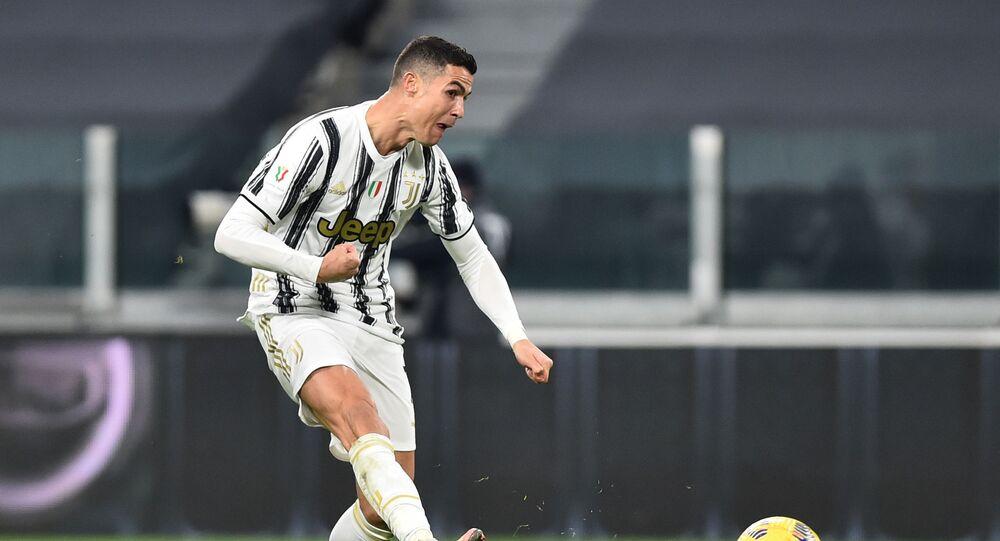 رونالدو من مباراة يوفنتوس وإنتر ميلان في قبل نهائي كأس إيطاليا
