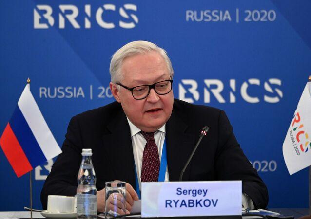 نائب وزير الخارجية الروسي سيرغي ريابكوف، موسكو، روسيا ديسمبر 2020