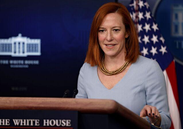 المتحدثة باسم البيت الأبيض جين بساكي، الولايات المتحدة 10 فبراير 2021