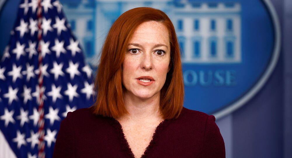 المتحدثة باسم البيت الأبيض جين بساكي، الولايات المتحدة 9 فبراير 2021