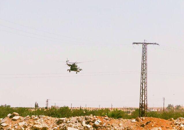 المروحي الروسي يلاحق فلول داعش في عمق الصحراء السورية