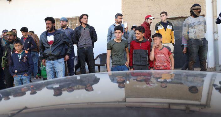 مدينة طفس بريف درعا، سوريا 11 فبراير 2021