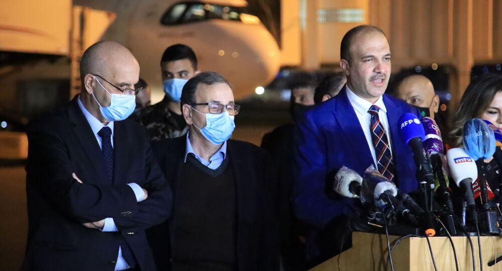 وزير الصحة اللبناني حمد حسن يلقي كلمة
