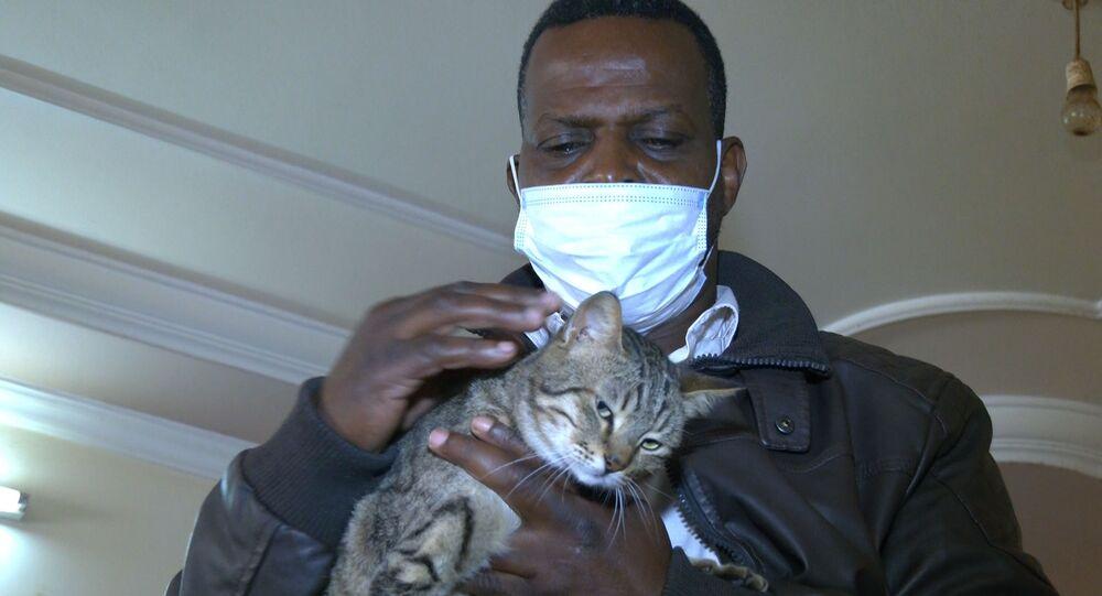 فلسطيني ينقذ الحيوانات الضالة ويعيش مع عشرات القطط