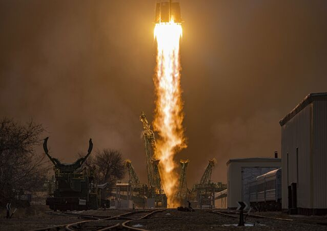 اطلاق صاروخ حامل سويوز-2.1أ، مركبة فضائية بروغريس ام- اس-16، قاعدة بايكونور الفضائية، 15 فبراير 2021