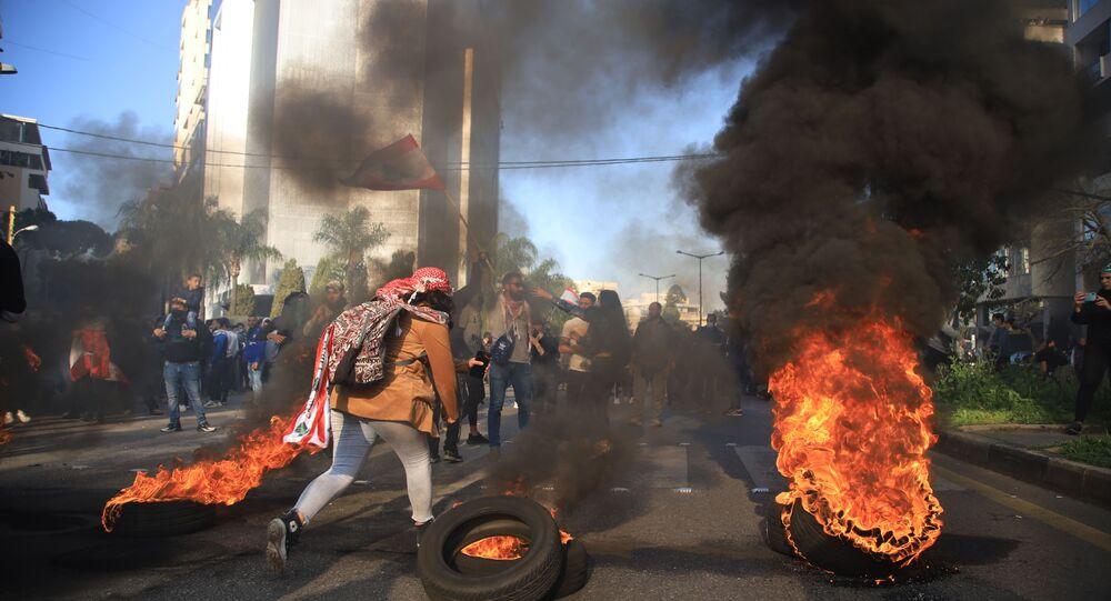 مظاهرات بيروت، لبنان 24 فبراير 2021