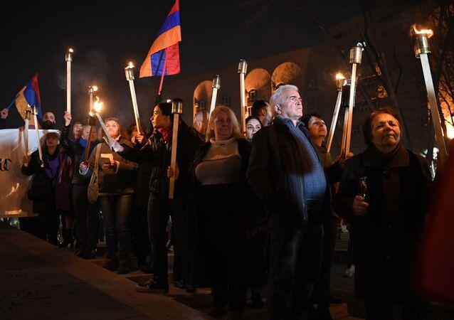 مظاهرات في أرمينيا