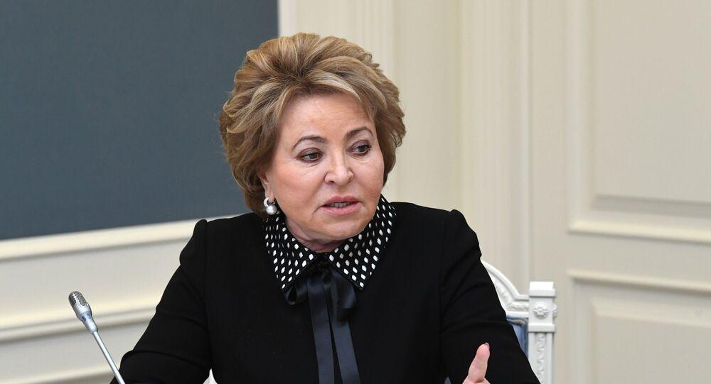 رئيسة مجلس الاتحاد الروسي فالنتينا ماتفينكو