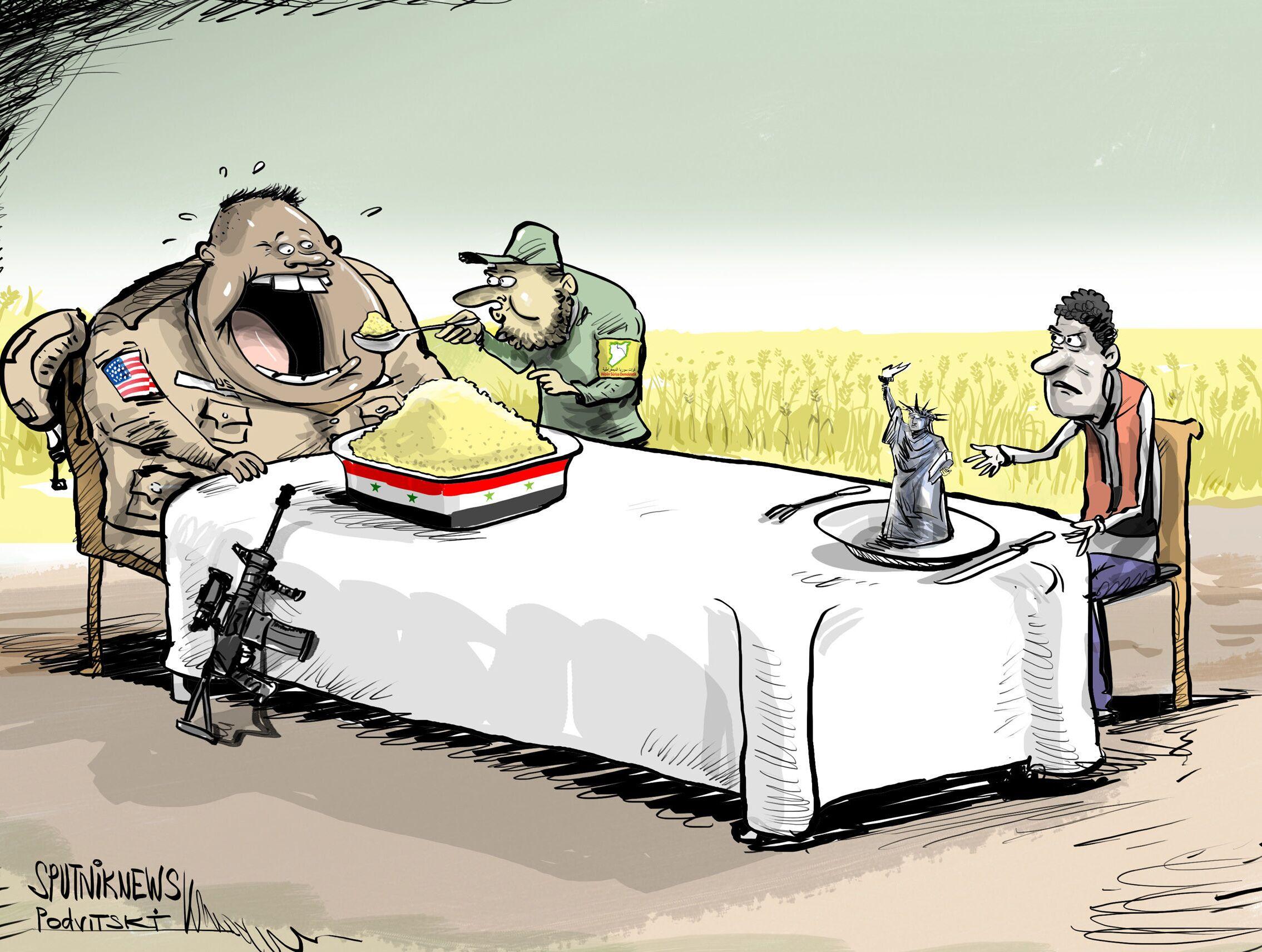 أصبحت الديموقراطية الآن تسرق طعام السوريين