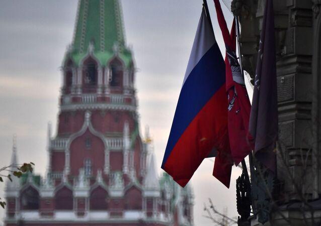 علم روسيا في الكرملين