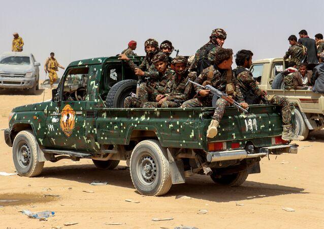 قوات جماعة أنصار الله، الحوثيون، اليمن، فبراير 2021