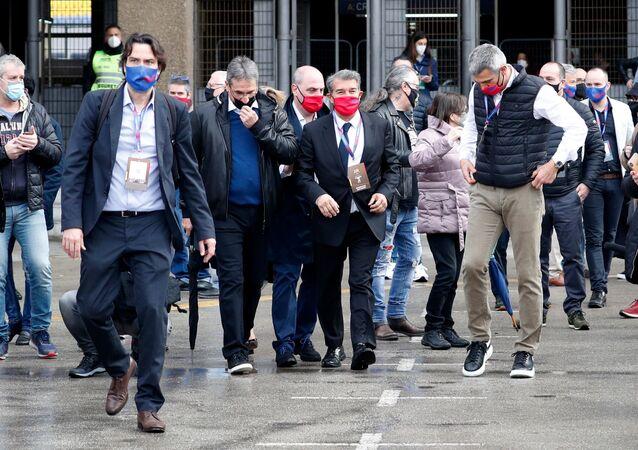 رئيس نادي برشلونة الجديد خوان لابورتا