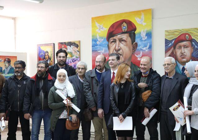 جامعة دمشق تحيي ذكرى رحيل تشافيز