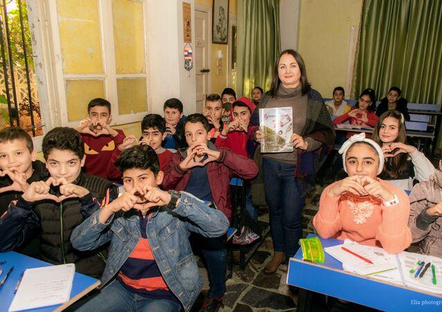 معلمة اللغة الروسية ناتاليا في سوريا