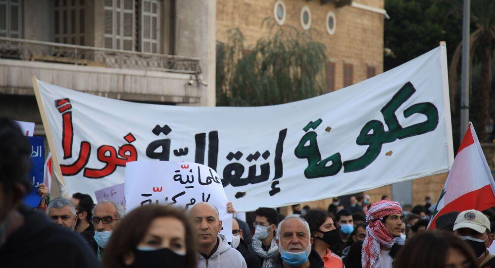 عودة التظاهرات إلى بيروت من أجل حكومة إنتقالية ولا للتدويل