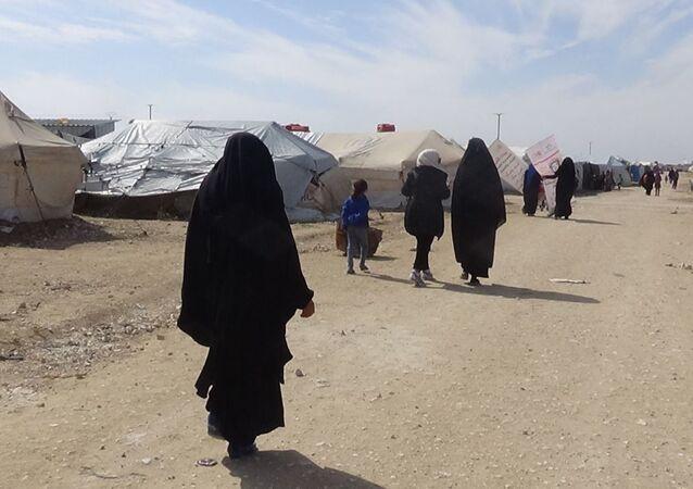مخيم الهول شرقي محافظة الحسكة السورية