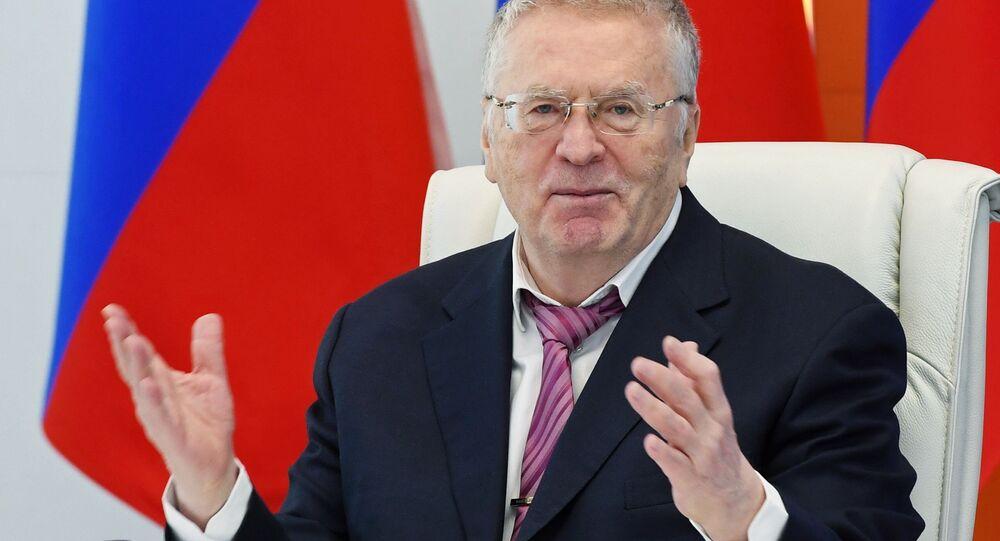 زعيم الحزب الديمقراطي الليبيرالي الروسي، فلاديمير جيرينوفسكي