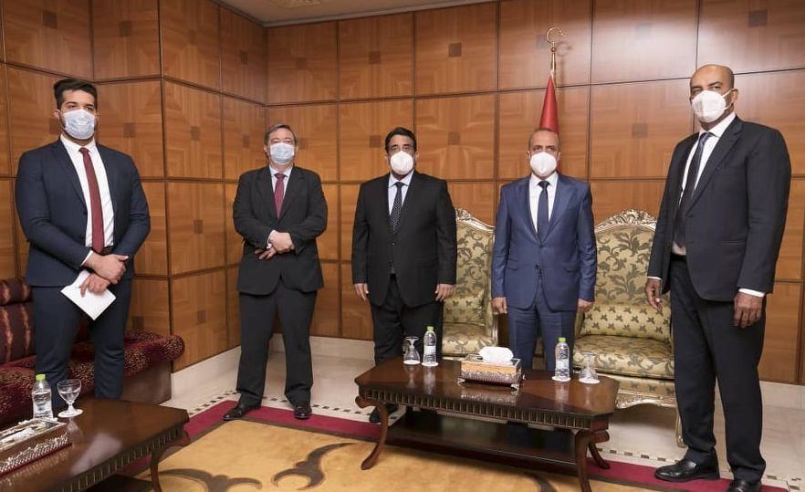 لقاء المجلس الرئاسي الليبي مع السفير الإسباني
