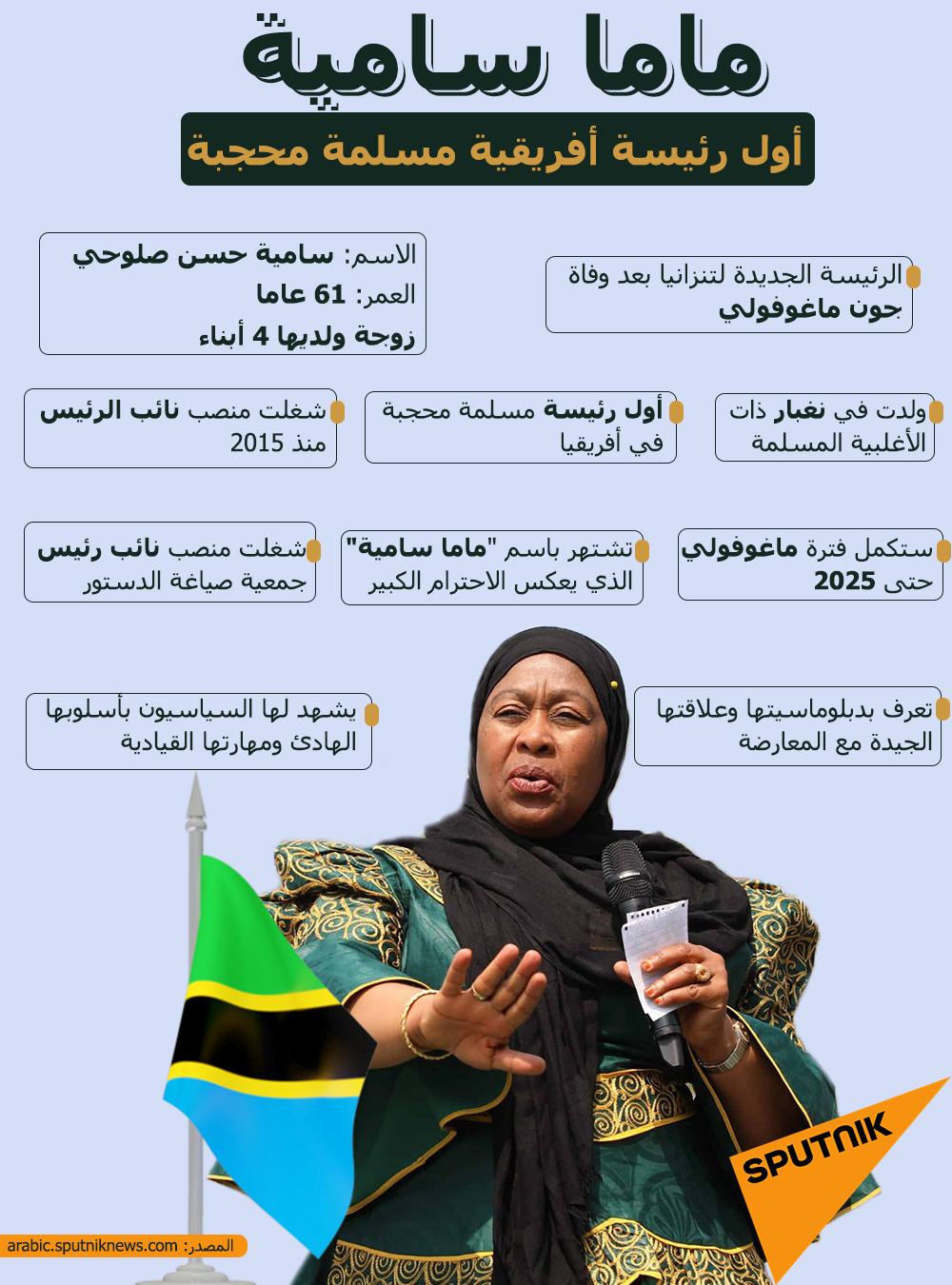 ماما سامية.. أول رئيسة أفريقية مسلمة محجبة