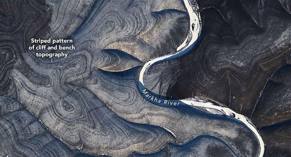 صورا الجزء المتجمد الشمالي من منطقة سيبيريا