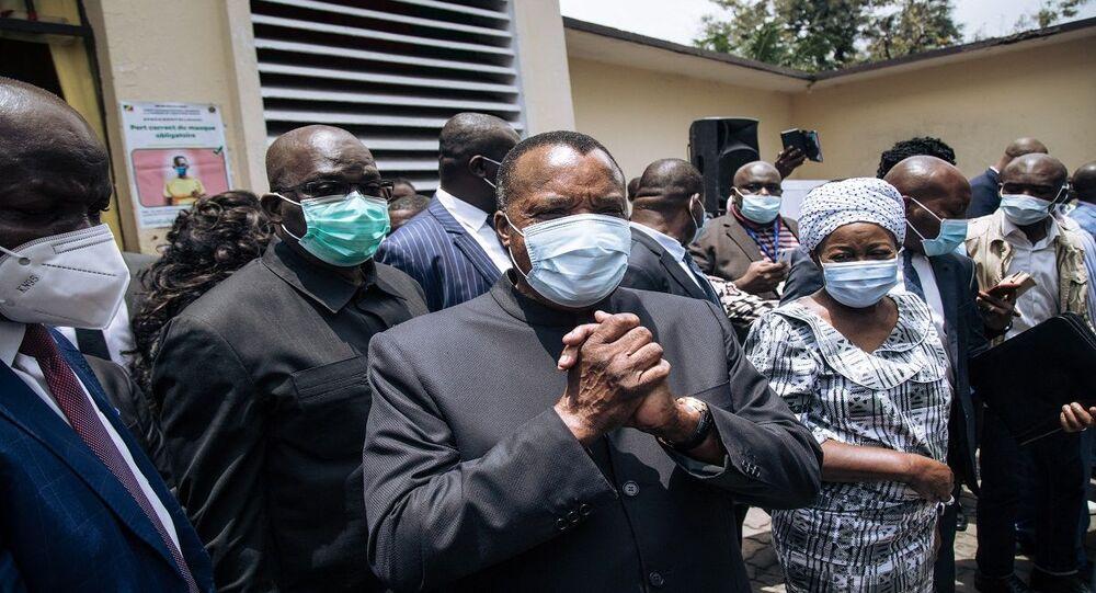 الرئيس الكونغولي المنتهية ولايته دينيس ساسو نغيسو