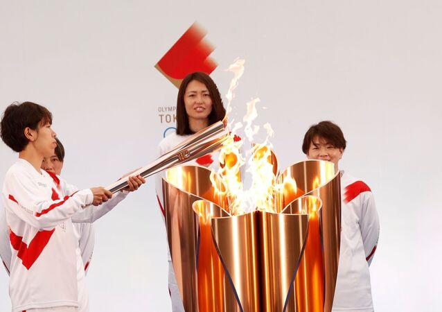 انطلاق مسيرة شعلة أولمبياد طوكيو